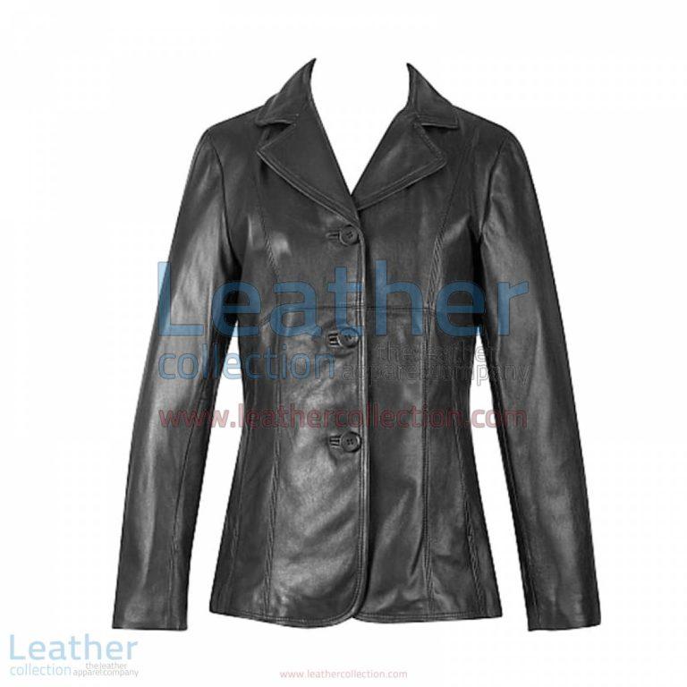 3 Button Lambskin Blazer | 3 button blazer,lambskin blazer