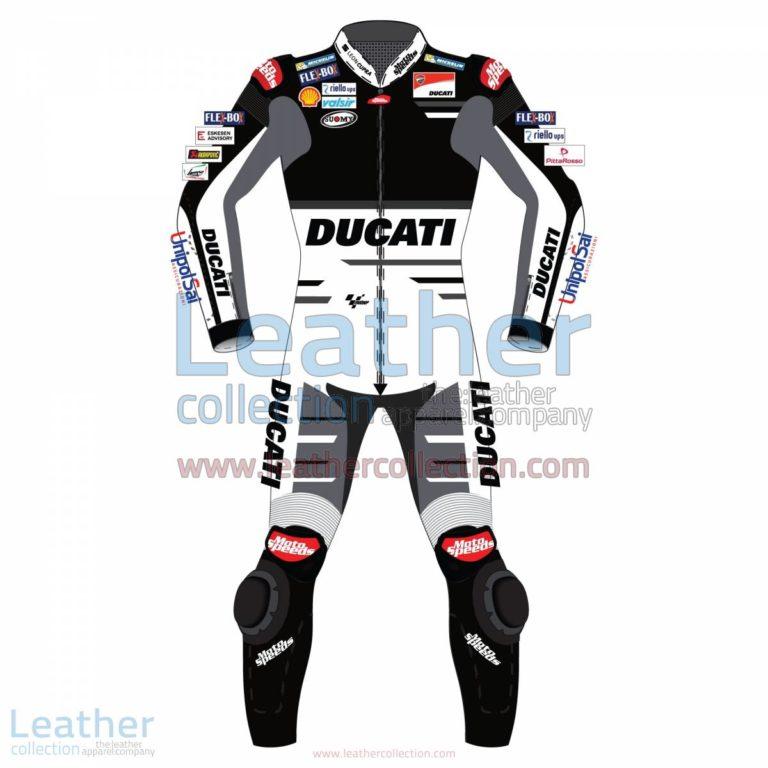 Andrea Dovizioso Ducati MotoGP 2018 Leather Suit Black | ducati suit,Andrea Dovizioso Ducati MotoGP 2018 Leather Suit Black
