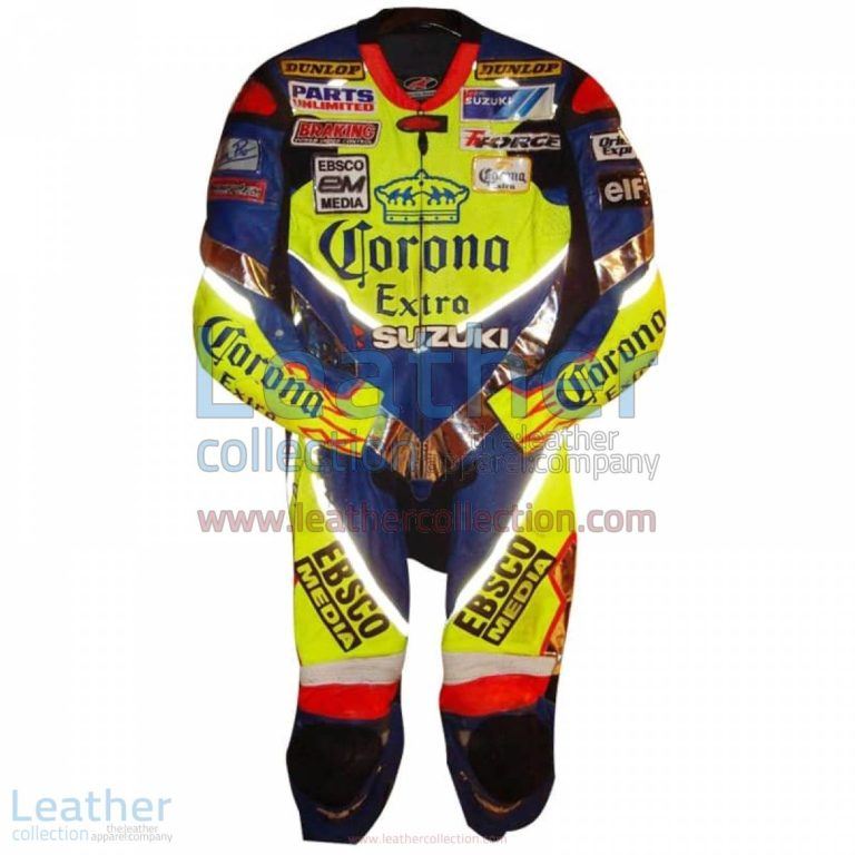 Anthony Gobert 2003 Corona Suzuki Race Leathers | suzuki clothing,race leathers
