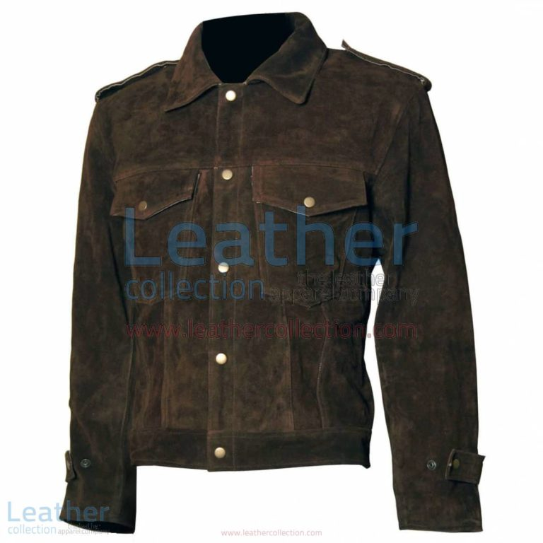Beatles John Lennon Rubber Soul Brown Suede Leather Jacket | suede jacket,brown leather jacket