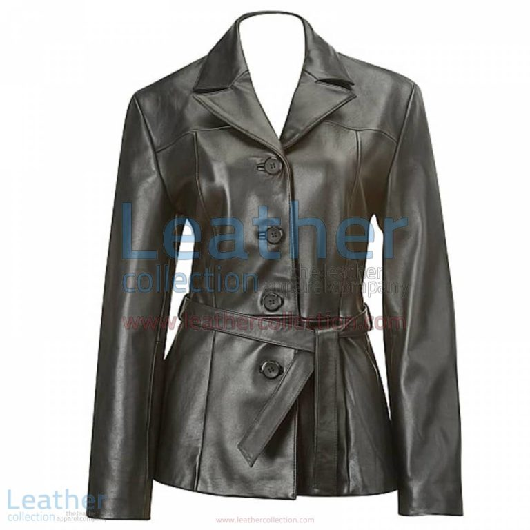 Belted Baby Doll Leather Coat | leather coat,baby doll coat