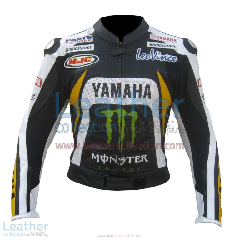 Ben Spies Yamaha Monster 2010 Leather Jacket | yamaha leather jacket,yamaha monster