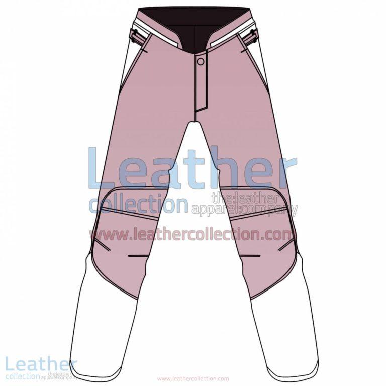 Bi Color Motorbike Leather Pant For Women | Leather Pant Women,Bi Color motorcycle Leather Pant For Women