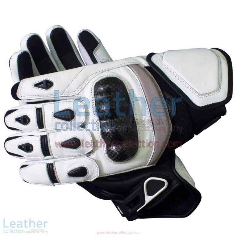 Black & White Short Motorcycle Gloves | motorcycle gloves,short motorcycle gloves