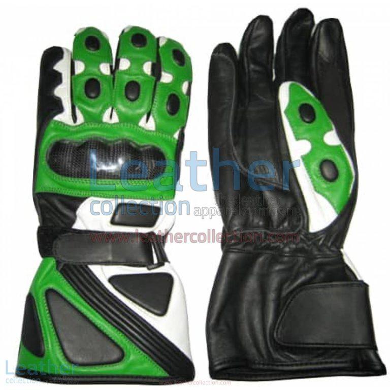 Bravo Green Motorcycle Race Gloves | race gloves,motorcycle race gloves