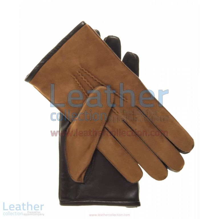Camel Suede and Lambskin Gloves | lambskin gloves,suede gloves