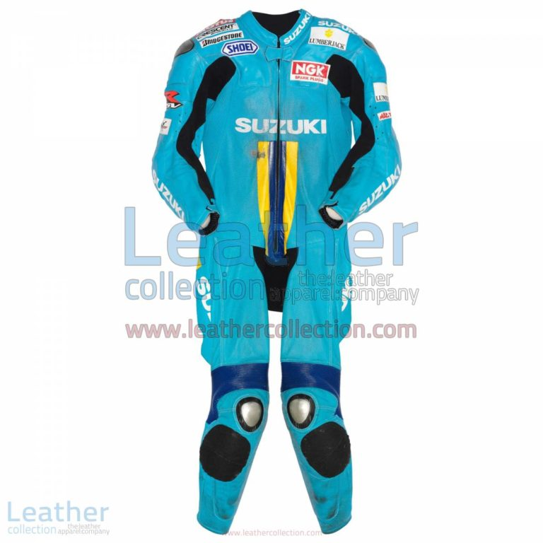 Chris Vermeulen Suzuki MotoGP 2007 Leather Suit   chris vermeulen,suzuki suit