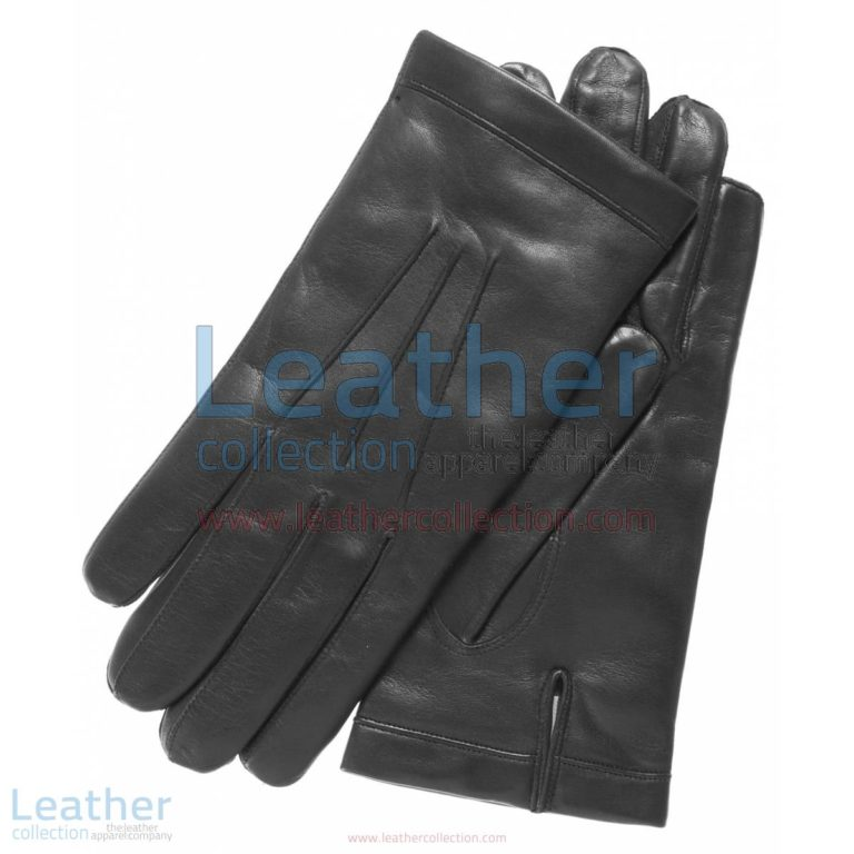 Classic Black Cashmere Lined Fashion Gloves   black fashion gloves,cashmere lined gloves