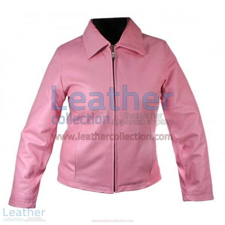 Classic Ladies Pink Leather Jacket | pink leather jacket,ladies pink leather jacket