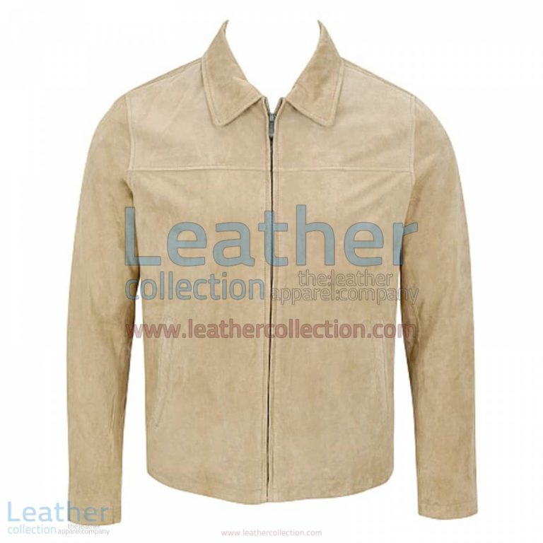 Classic Mens Suede Jacket with Shirt Collar | suede jacket,mens suede jacket