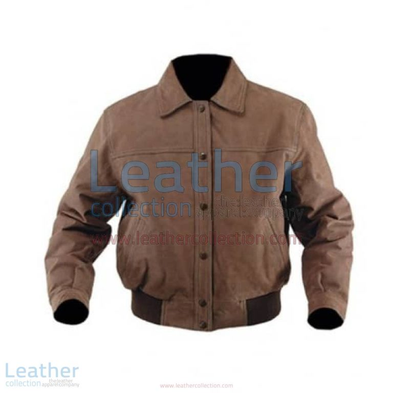 Classic Nubuck Leather Bomber Jacket | classic leather bomber jacket,bomber jacket