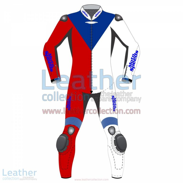 Czech Republic Flag Moto Leathers | racing leathers,moto leathers