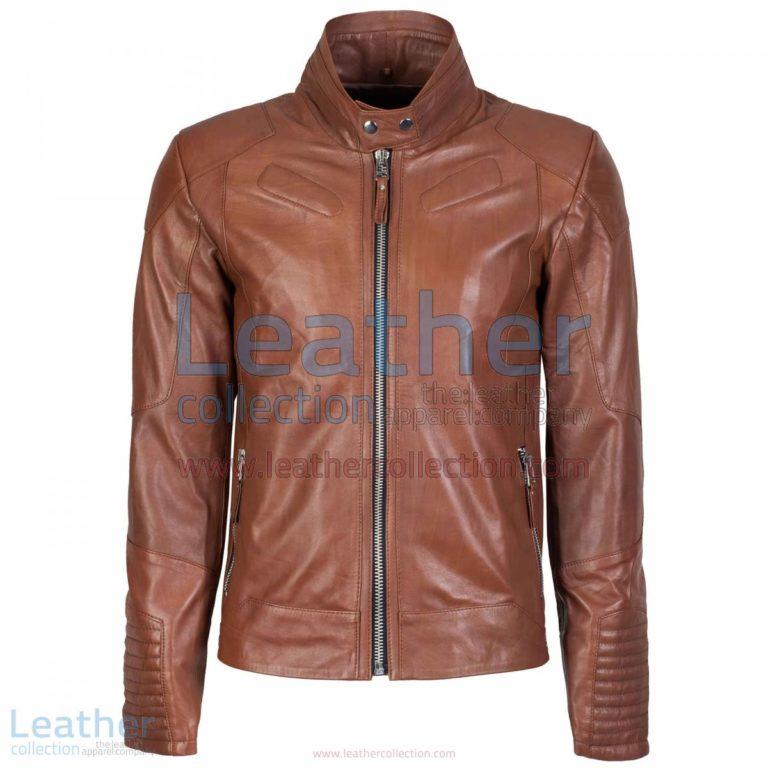 Deuce Classic Biker Leather Jacket Antique Brown   biker jacket,classic biker jacket