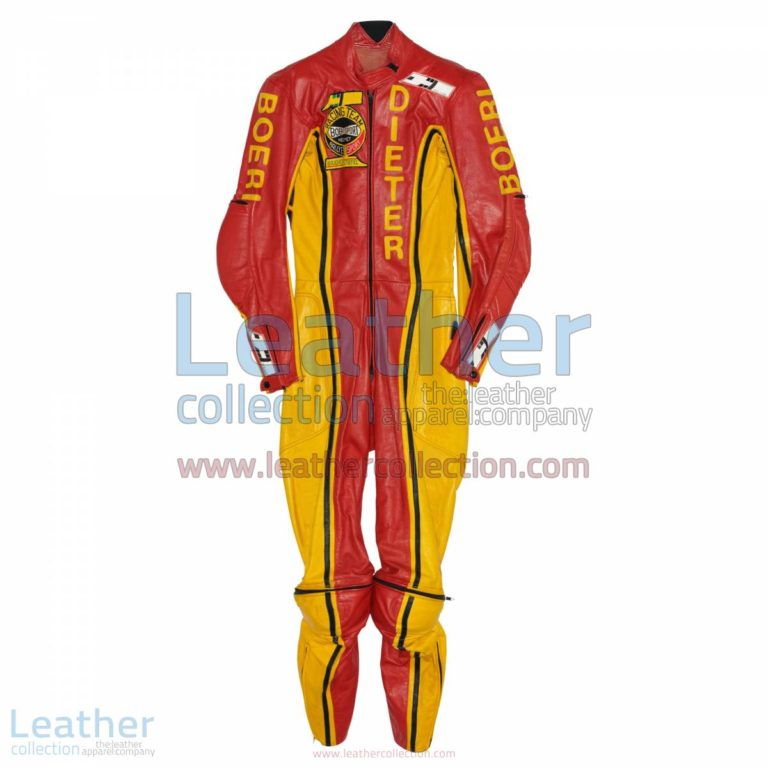 Dieter Braun Yamaha GP 1973 Leather Suit | yamaha clothing,yamaha leather suit