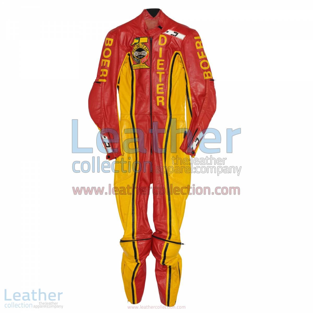 Dieter Braun Yamaha GP 1973 Leather Suit | yamaha clothing,yamaha leather suit