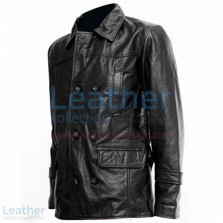 Doctor Who Black Leather Coat | black coat,doctor who coat