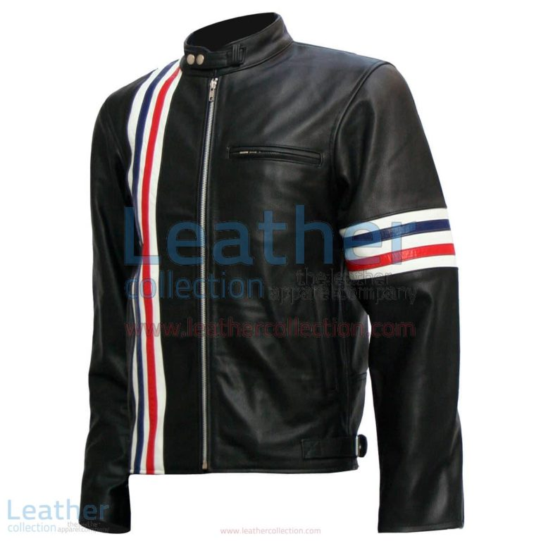Easy Rider Captain America Biker Black Leather Jacket | captain america jacket,easy rider jacket