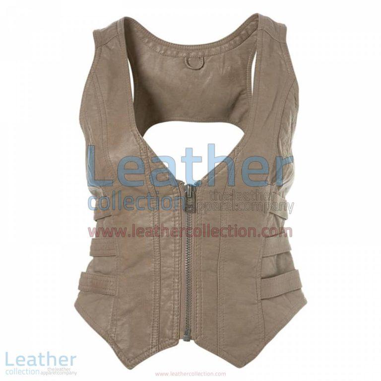 Fashion Short Leather Vest | short vest,short leather vest