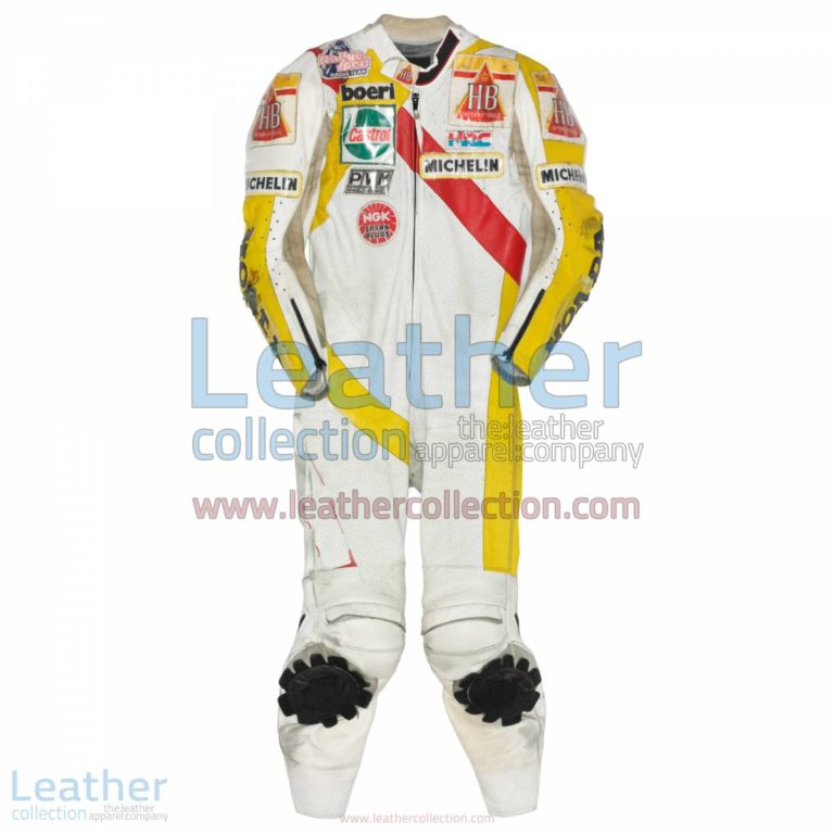Helmut Bradl HB Honda GP 1989 Motorcycle Leathers | motorcycle leathers,honda motorcycle leathers