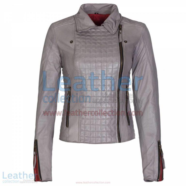Heritage Ladies Fashion Leather Jacket Grey   ladies fashion,heritage jacket