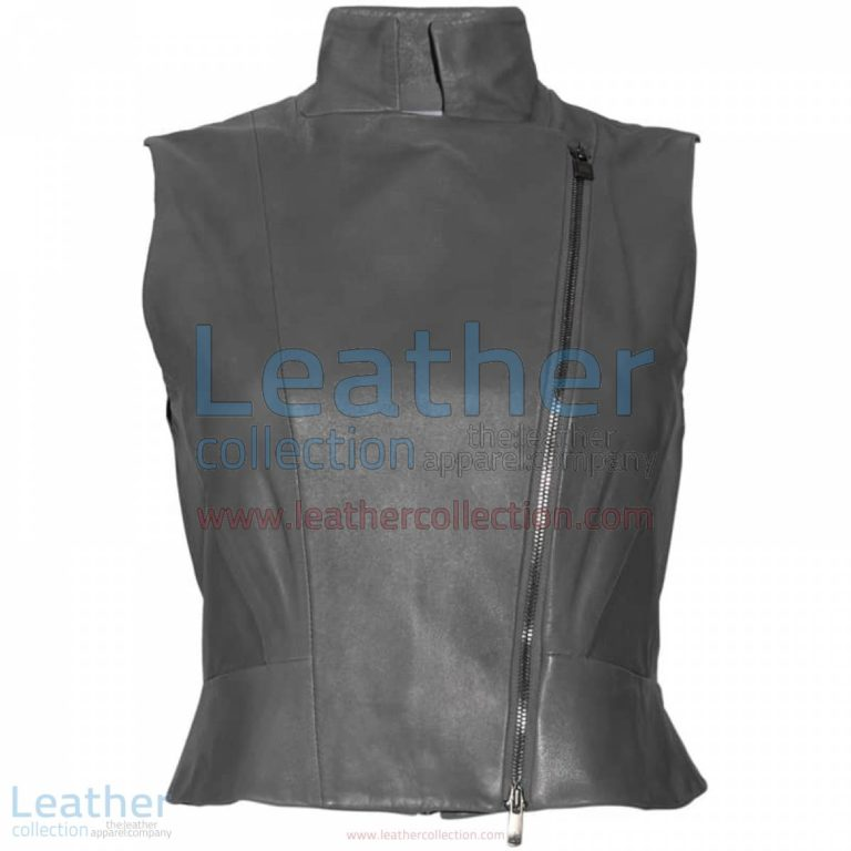 High Neck Fashion Leather Vest | fashion leather vest,high neck vest