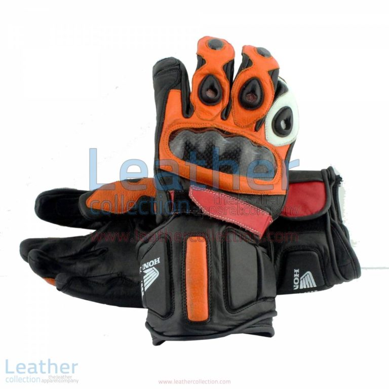 Honda Repsol Leather Motorbike Gloves | leather motorcycle gloves,honda gloves