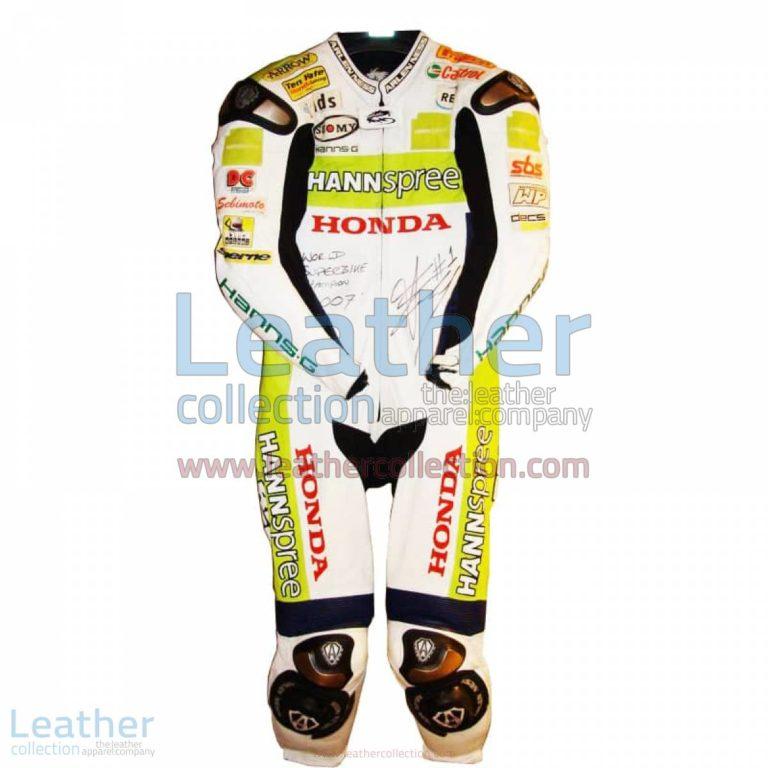 James Toseland Honda WSBK 2007 Leathers | honda leathers,james toseland