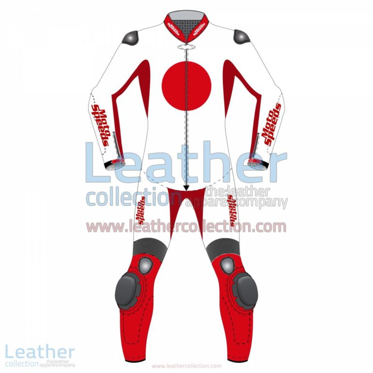 Japan Flag Motorbike Suit | custom leathers,motorcycle suit