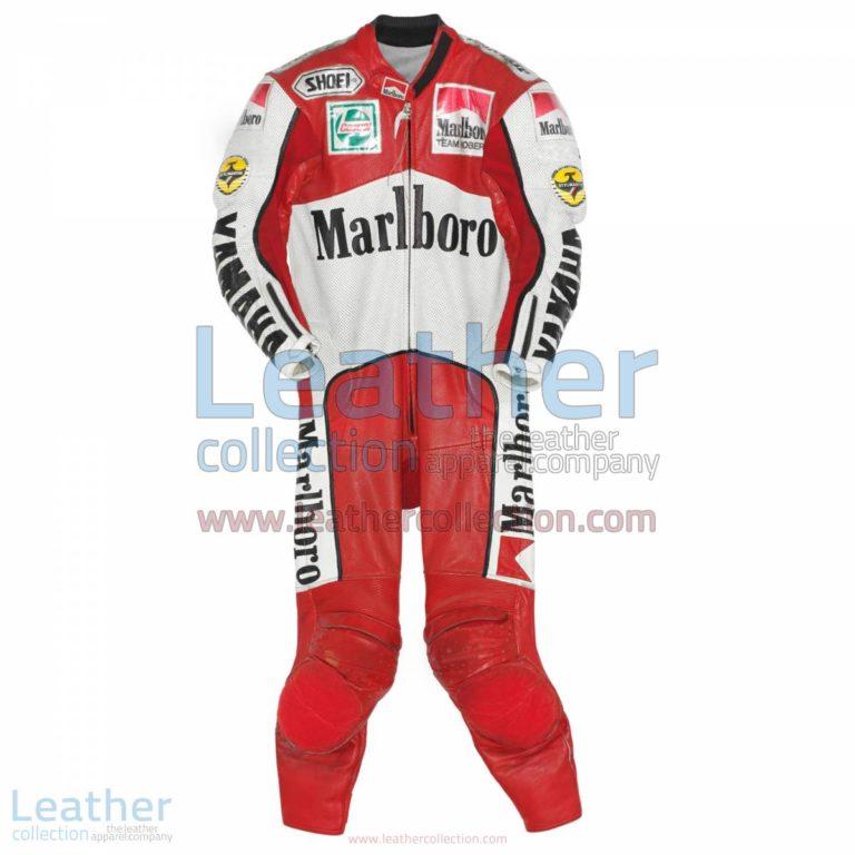John Kocinski Marlboro Yamaha GP 1990 Leather Suit | yamaha clothing,yamaha suit