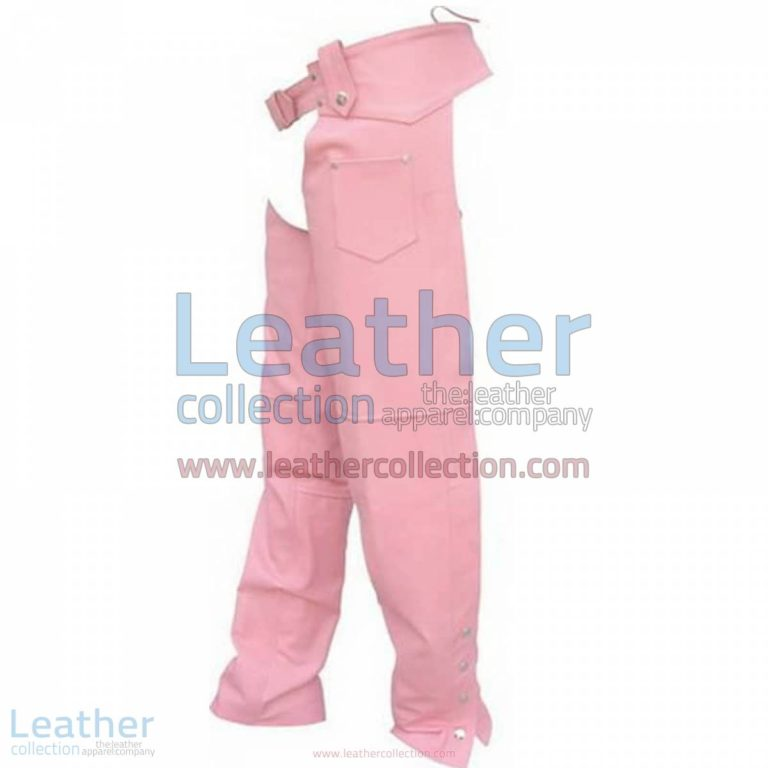 Ladies Pink Leather Chaps | pink chaps,ladies leather chaps