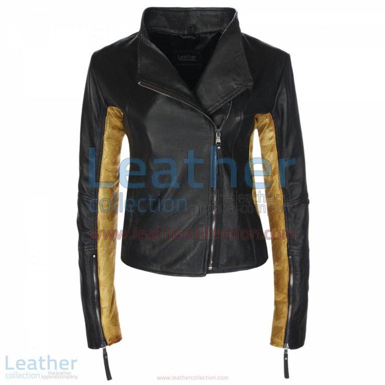 Black & Gold Sovereign JacketBlack & Gold Sovereign Jacket | ladies jacket,gold leather jacket