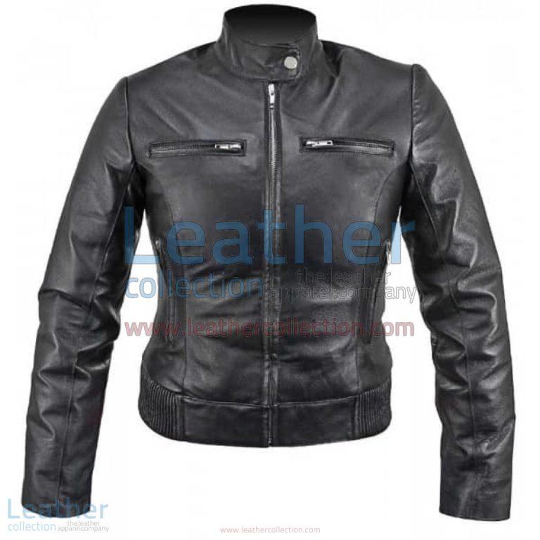 Ladies Waist Length Leather Jacket   ladies leather jacket,waist length jacket