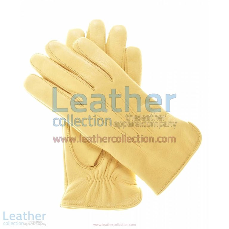 Ladies Winter Tan Gloves with Wool Lining | ladies winter gloves,tan gloves