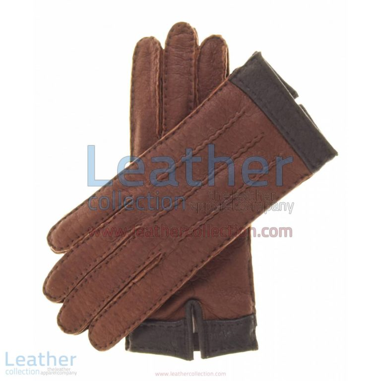 Ladies Cashmere Wool Lined Brown Lambskin Gloves | wool lined gloves,ladies cashmere gloves