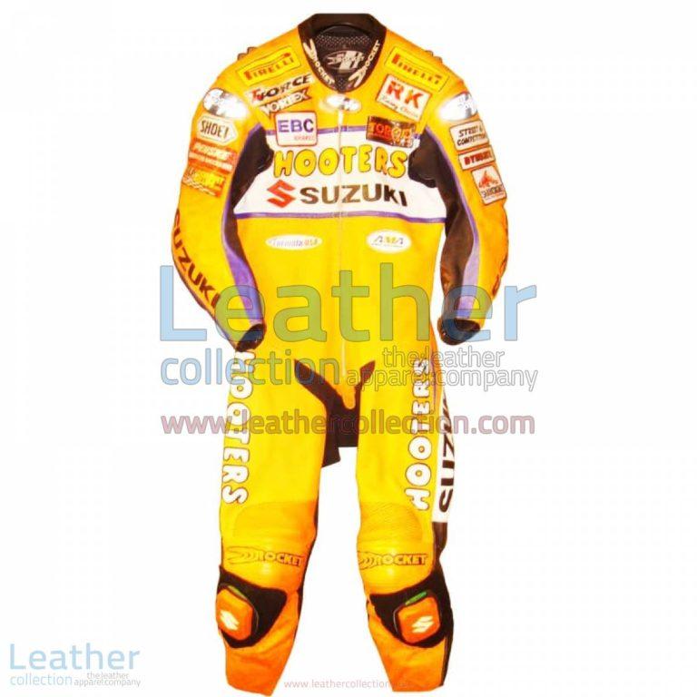 Larry Pegram Suzuki AMA Motorcycle Leathers | suzuki apparel,suzuki motorcycle leathers