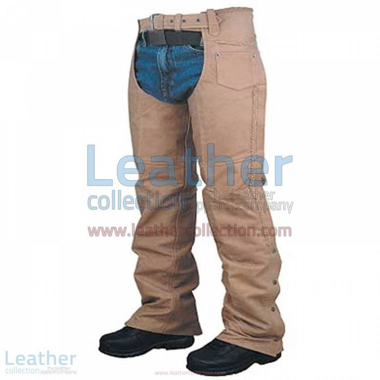 Leather Braided Chaps For Men | chaps for men,leather chaps for men