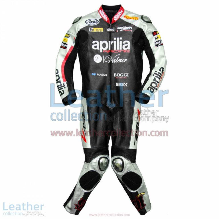 Leon Haslam Aprilia 2015 WSBK Racing Leathers | aprilia leathers,racing leathers