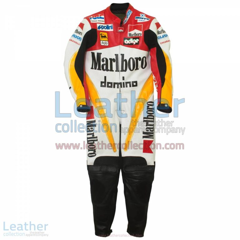 Loris Capirossi Honda GP 1995 Racing Suit   honda racing apparel,honda racing suit