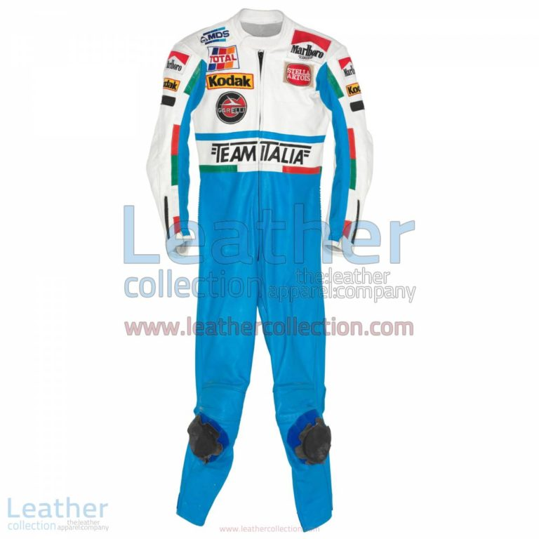 Luca Cadalora Garelli GP 1986 Motorcycle Suit | motorcycle apparel,motorcycle suit