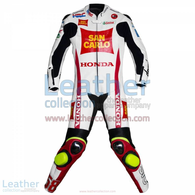 Marco Simoncelli Honda 2011 Leathers   honda clothing,marco simoncelli