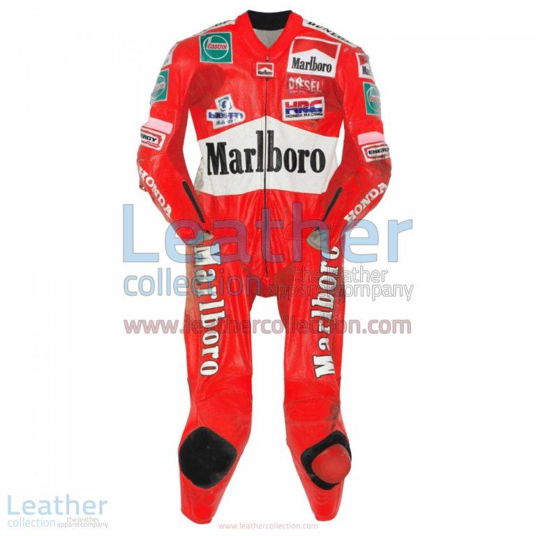 Max Biaggi Honda GP 1997 Racing Leathers | racing leathers,honda leathers