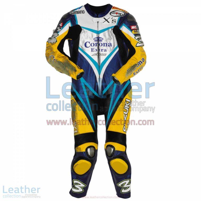 Max Biaggi Suzuki WSBK 2007 Leathers | max biaggi,suzuki leathers