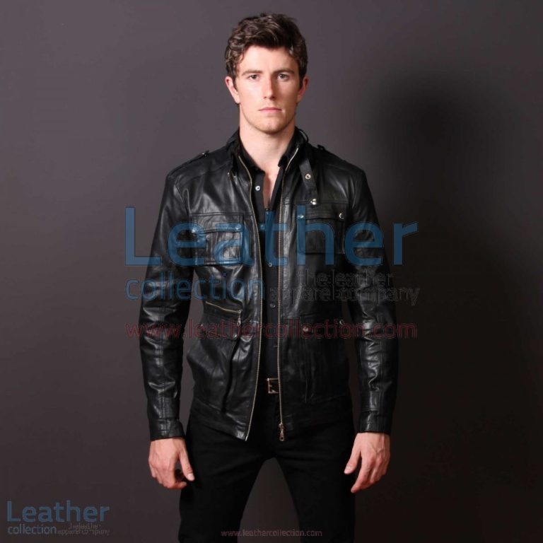 Men Leather Fashion Rockwell Jacket | leather fashion jacket,rockwell jacket