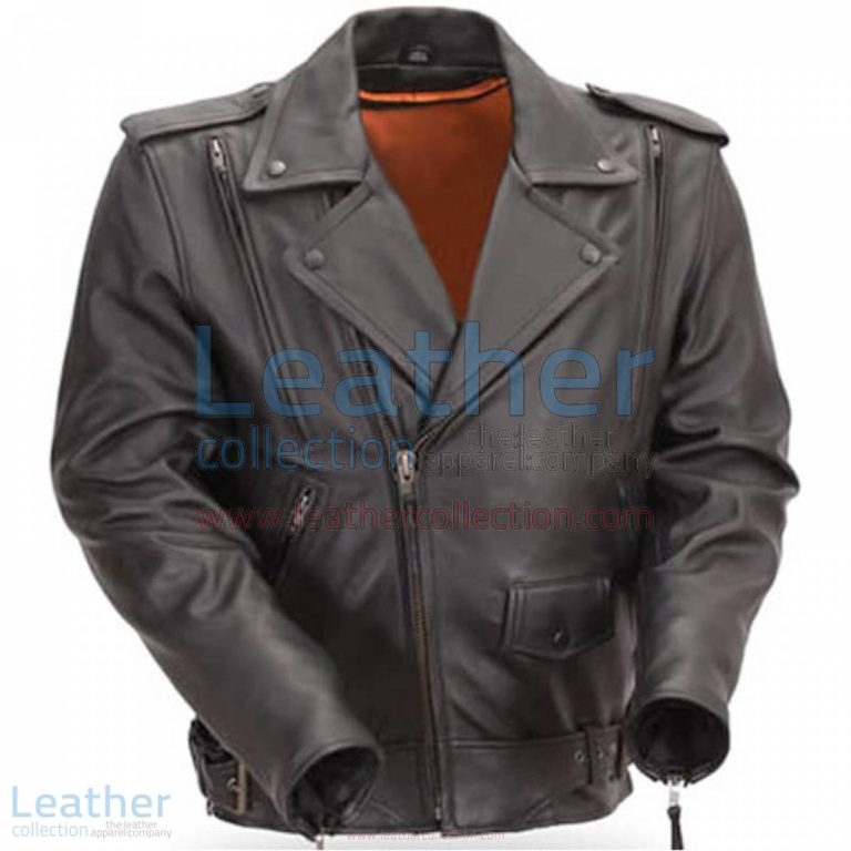 Mens Classic Motorcycle Jacket with Gun Metal Hardware | mens motorcycle jacket,classic motorcycle jacket