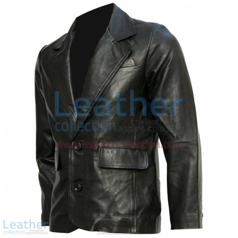 Mission Impossible Tom Cruise Black Leather Blazer | blazer black,black leather blazer
