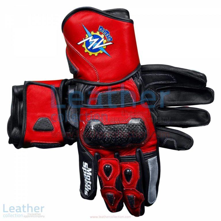 MV Agusta 2017 Leather Motorcycle Gloves | MV Agusta gloves,MV Agusta 2017 Leather Motorcycle Gloves