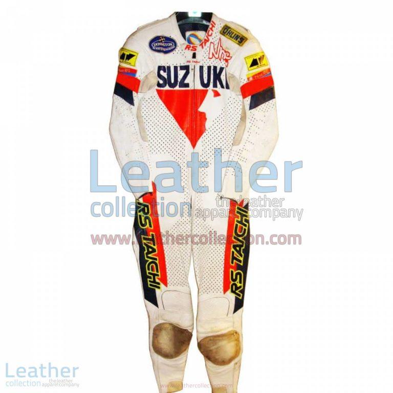 Niall Mackenzie Suzuki GP Racing Suit | suzuki racing apparel,suzuki racing suit
