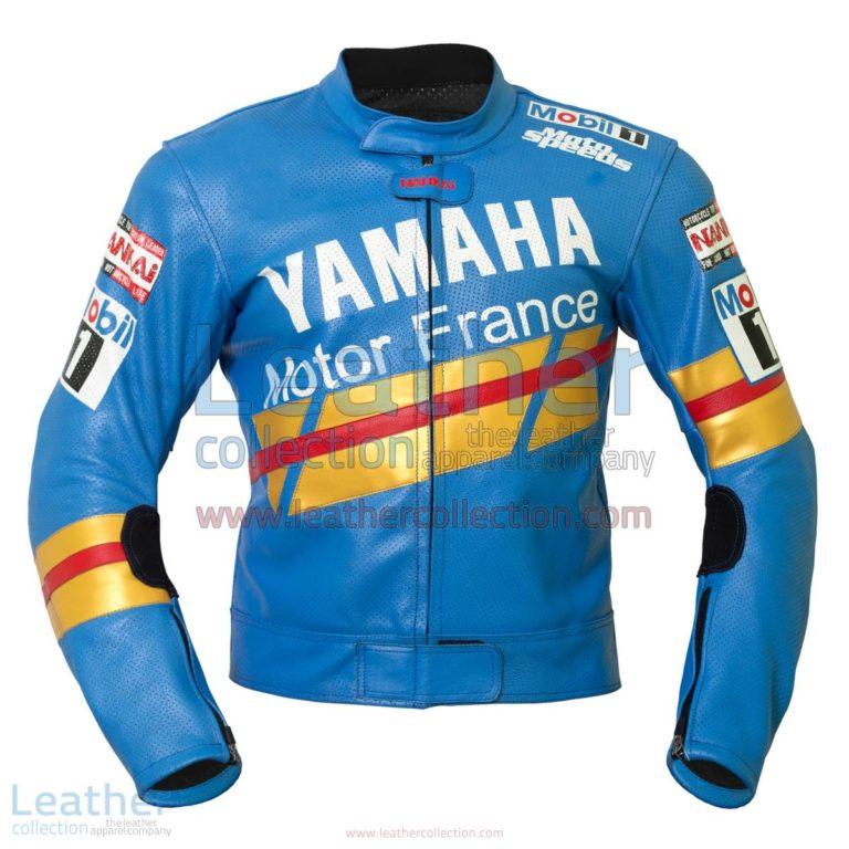 Niall Mackenzie Yamaha GP 1991 Leather Jacket | yamaha leather jacket,yamaha clothing