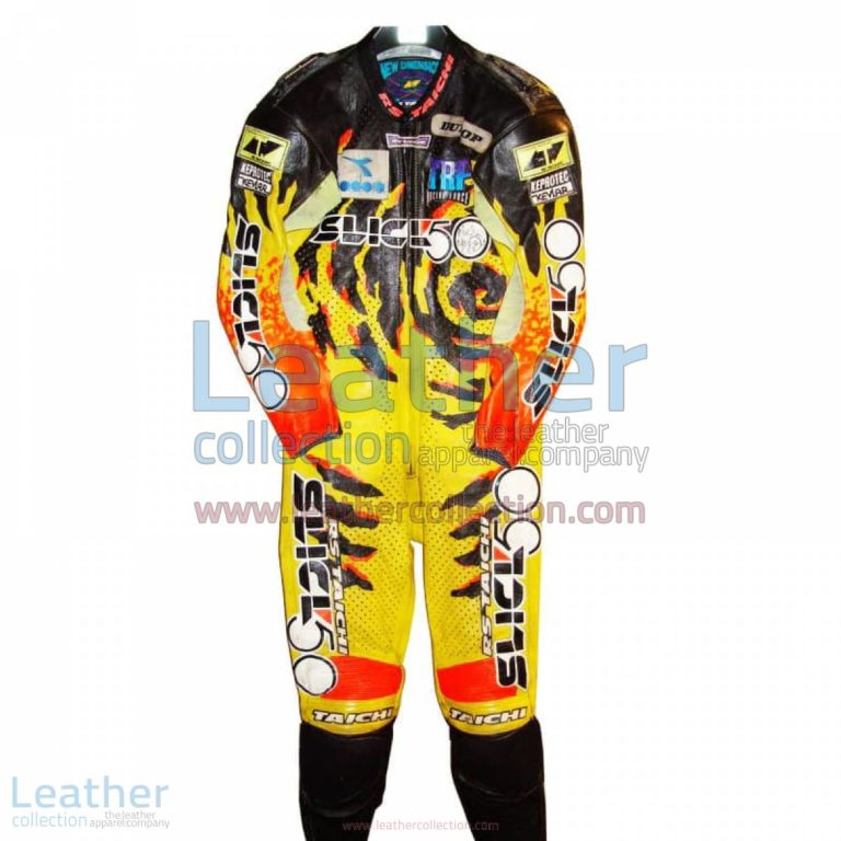 Niall Mackenzie Yamaha GP 1994 Leather Suit | yamaha apparel,yamaha leather suit