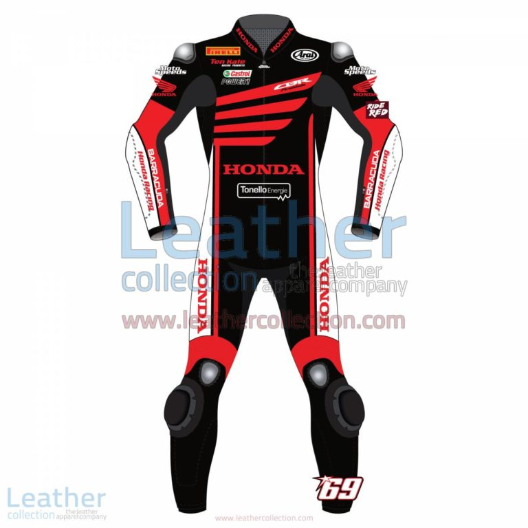 Nicky Hayden WSBK Winter Test Honda 2015 Motorcycle Suit | Nicky Hayden Honda,Nicky Hayden WSBK Winter Test Honda 2015 Motorcycle Suit